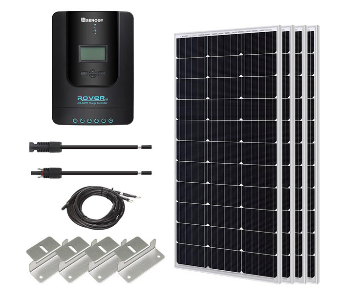 400 Watts Solar Panel with MPPT Charge Controller