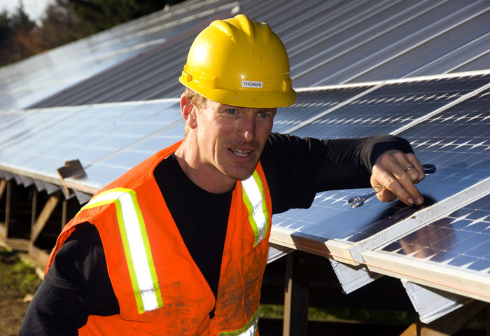 A Solar Installer