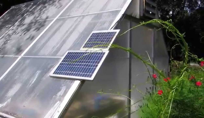 Greenhouse Solar Panel
