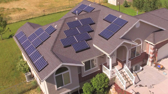 Solar Panels Power A House